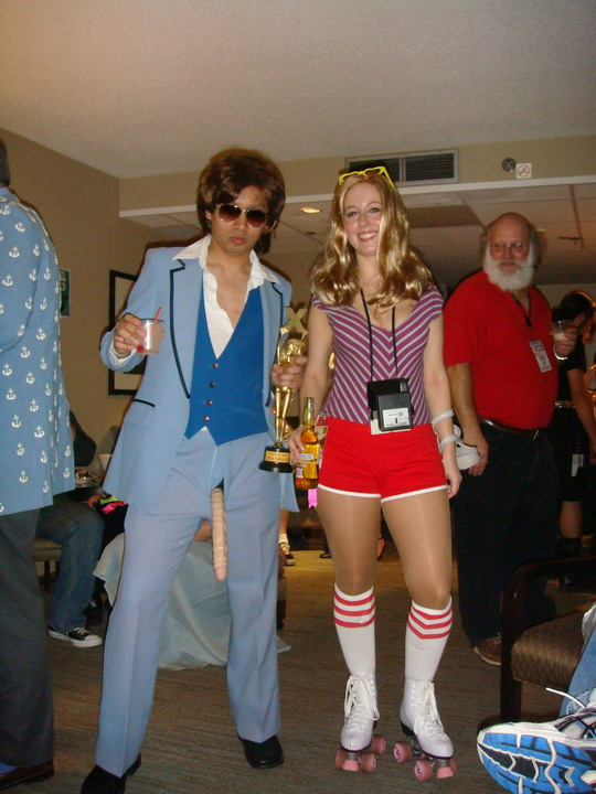 IN came Ruby and Jen dressed as Dirk Diggler and Roller Girl! & DragonCon 07